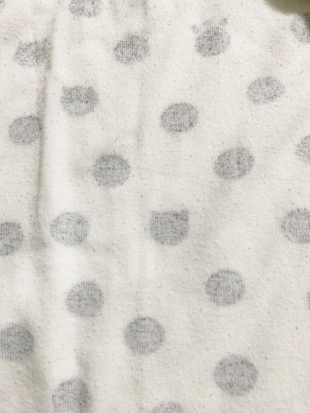 ツモリチサト ワンピース サイズL レディース美品  白×黒×マルチ SLEEP/ドット柄