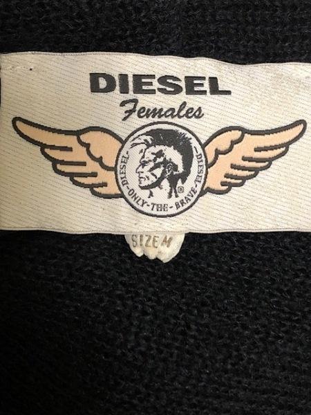 DIESEL(ディーゼル) カーディガン サイズM レディース 黒 フード付き