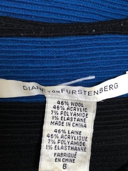 ダイアン・フォン・ファステンバーグ ワンピース サイズ6 M レディース ブルー×黒