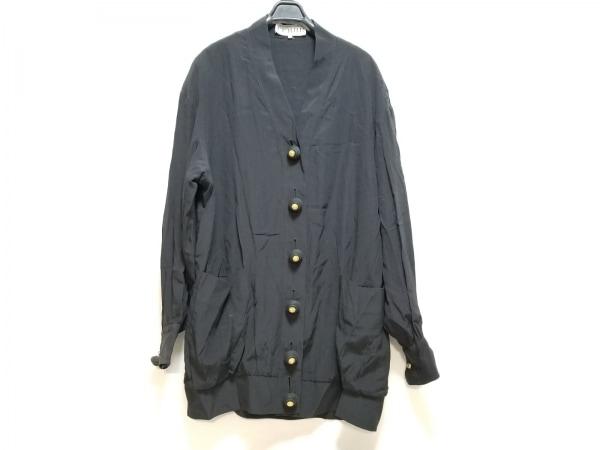 ジャンフランコフェレ ジャケット サイズ40 M レディース美品  黒 シルク