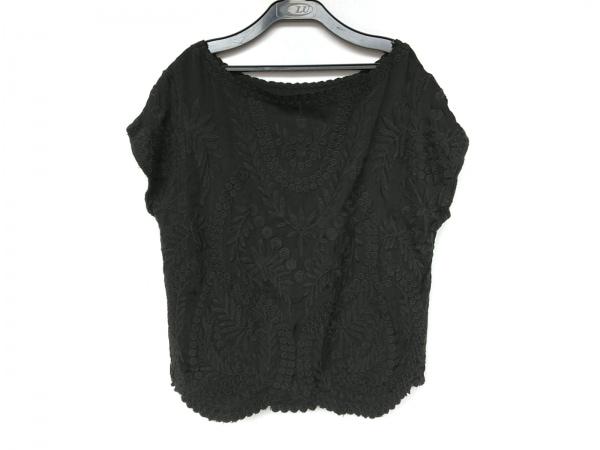 BEARDSLEY(ビアズリー) 半袖カットソー サイズF レディース新品同様  黒 刺繍