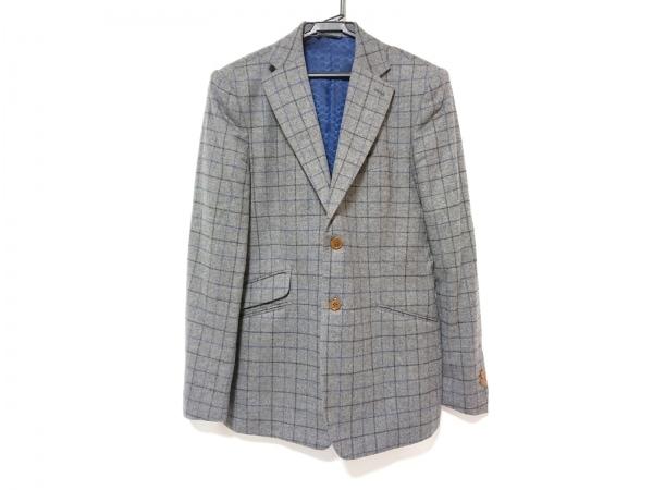 ヴィヴィアンウエストウッドマン ジャケット サイズ48 XL メンズ グレー×黒×ブルー