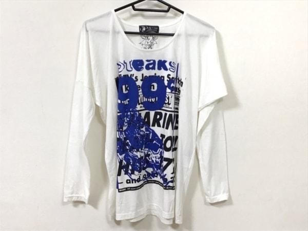ヒステリックグラマー 長袖Tシャツ サイズF メンズ美品  白×ブルー×黒