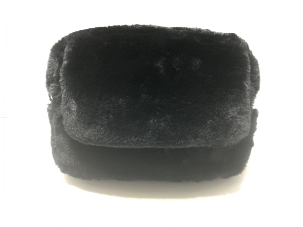 INGEBORG(インゲボルグ) ウエストポーチ美品  黒 2way フェイクファー×合皮