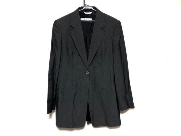 マックスマーラ ジャケット サイズ42 M レディース 黒×ダークグレー ロング丈