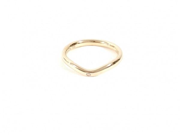 ティファニー リング美品  カーブドバンドリング K18YG×ダイヤモンド 1Pダイヤ