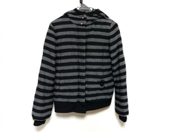 ソニアリキエル ダウンジャケット サイズ40 M レディース美品  黒×グレー