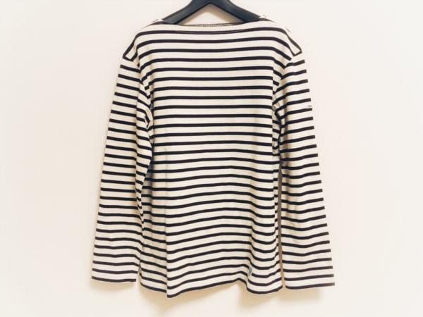 オーシバル 長袖Tシャツ サイズ3 L レディース アイボリー×ネイビー ボーダー