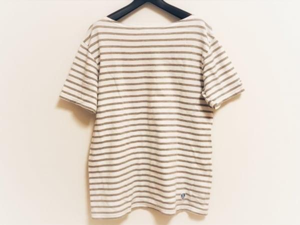 ORCIVAL(オーシバル) 半袖Tシャツ サイズ3 L レディース 白×ライトグレー ボーダー