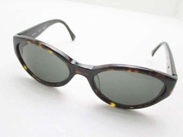 CalvinKlein(カルバンクライン) サングラス 黒×ダークブラウン プラスチック