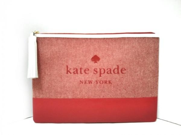 Kate spade(ケイトスペード) セカンドバッグ美品  WLRU5328 レッド×白