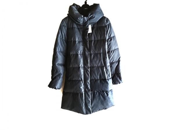 ナノユニバース ダウンコート サイズ38 M レディース美品  ネイビー BASE/冬物
