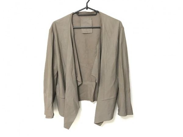 ロータス ジャケット サイズ46 XL レディース美品  ベージュ レザー 1