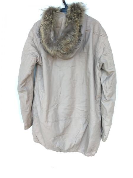 ツモリチサト コート サイズ2 M レディース ベージュ 冬物/ジップアップ/ファー