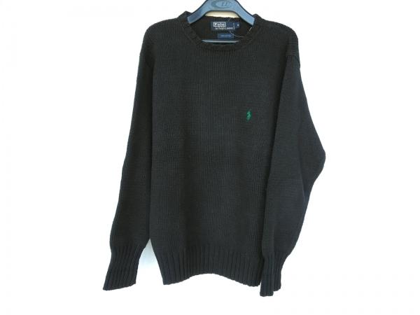 ポロラルフローレン 長袖セーター サイズM メンズ美品  ダークグレー