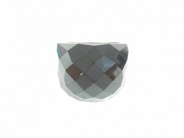 スワロフスキー リング 58美品  スワロフスキークリスタル×金属素材 黒×シルバー