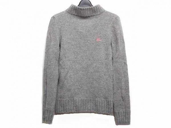 バーバリーブルーレーベル 長袖セーター サイズ38 M レディース グレー ハイネック