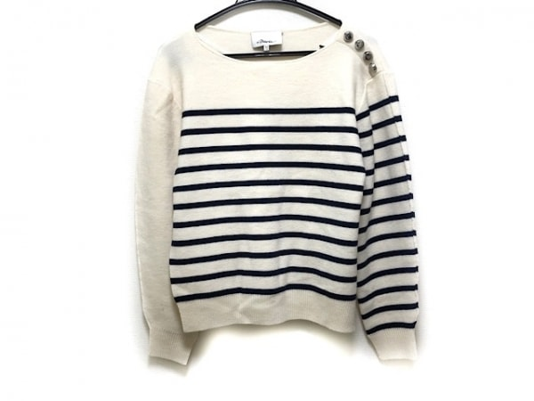 スリーワンフィリップリム 長袖セーター サイズXS レディース 白×黒 ボーダー