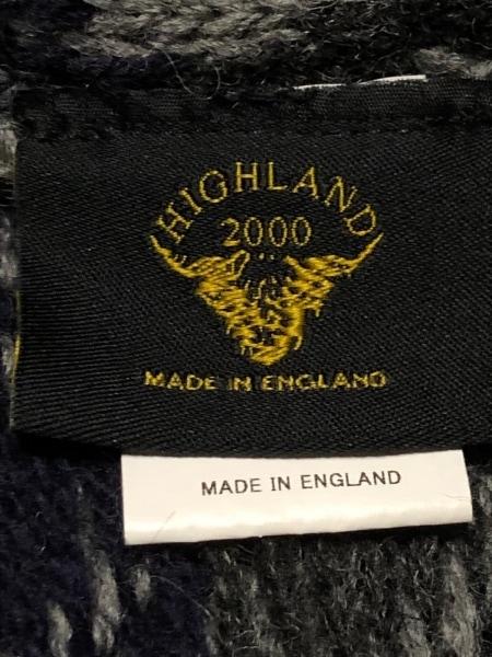 HIGHLAND 2000(ハイランド 2000) ポンチョ レディース美品  グレー×黒×ライトブルー