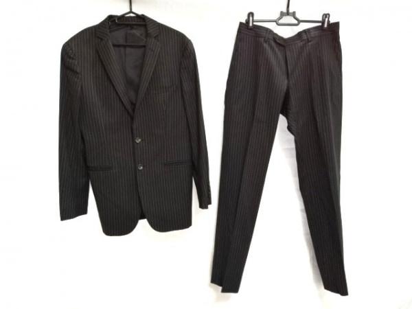 TONELLO(トネッロ) シングルスーツ サイズ46 XL メンズ 黒 ストライプ