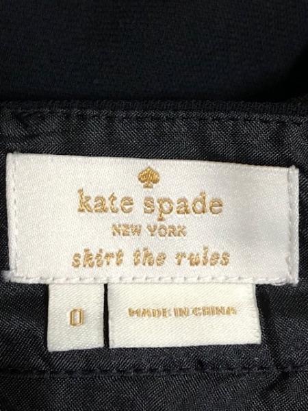 ケイトスペード スカート サイズ0 XS レディース美品  黒×レッド×ピンク 花柄