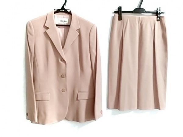 HANAE MORI(ハナエモリ) スカートスーツ サイズ40 M レディース美品  ピンク