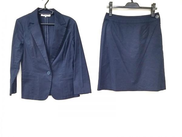 ナチュラルビューティー ベーシック スカートスーツ サイズL レディース ネイビー