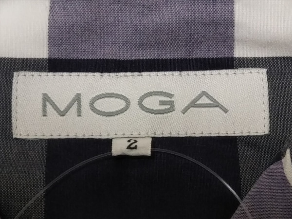 MOGA(モガ) ワンピース サイズ2 M レディース美品  アイボリー×パープル×グレー