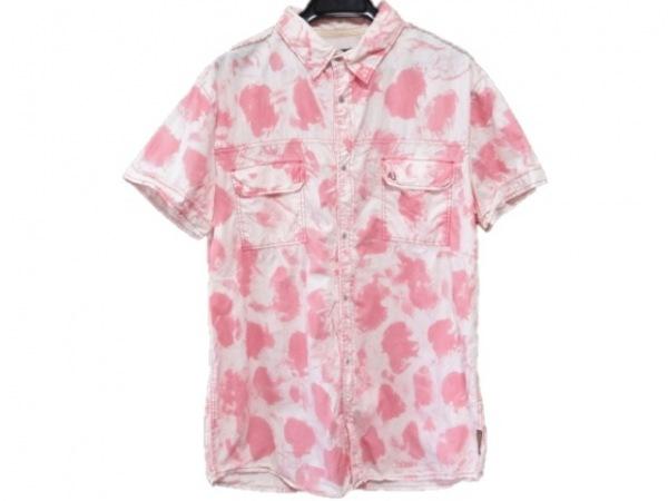 ARMANIJEANS(アルマーニジーンズ) 半袖シャツ メンズ ピンク