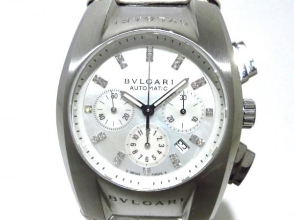 BVLGARI(ブルガリ) 腕時計 エルゴン EG35SCH レディース ホワイトシェル