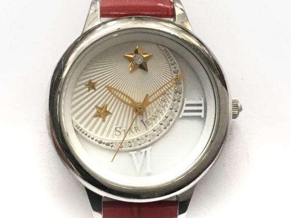 スタージュエリー 腕時計 レディース スター/ラインストーン/シェル文字盤