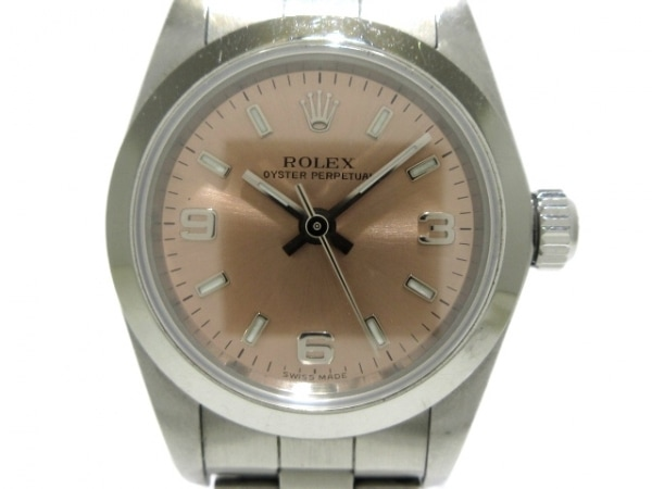 ロレックス 腕時計 オイスターパーペチュアル 76080 メンズ SS/10コマ(3コマ落ち)