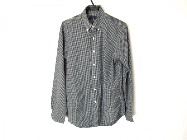 POLObyRalphLauren(ポロラルフローレン) 長袖シャツ メンズ 白×黒 チェック柄