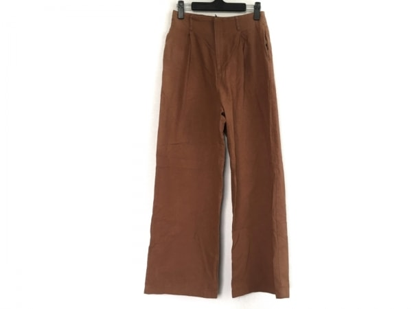 TODAYFUL(トゥデイフル) パンツ サイズ38 M レディース ブラウン