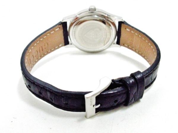 GUCCI(グッチ) 腕時計 5500L レディース 革ベルト 黒