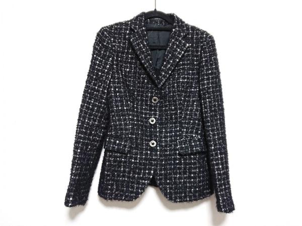 TAGLIATORE(タリアトーレ) ジャケット サイズ40 M レディース美品  黒×ライトグレー