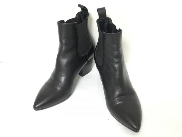 ファビオルスコーニ ショートブーツ 35 レディース美品  黒 サイドゴア レザー
