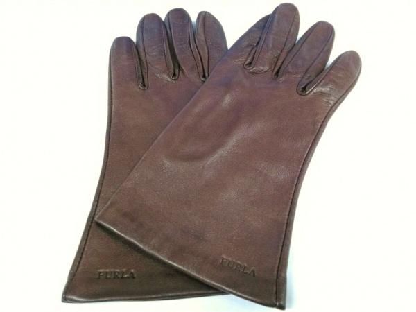 FURLA(フルラ) 手袋 レディース ダークブラウン レザー