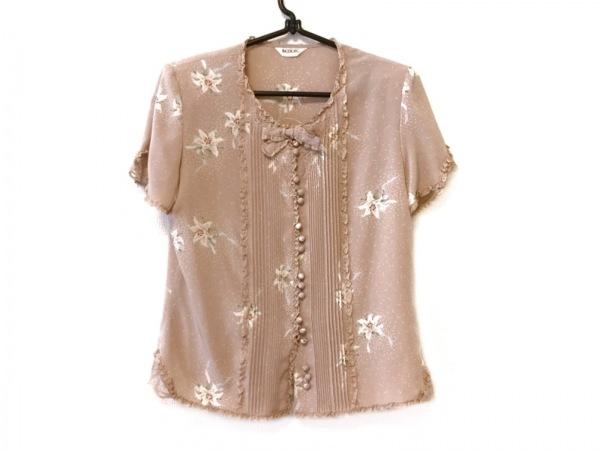 インゲボルグ ノースリーブシャツブラウス サイズS レディース美品  ベージュ×マルチ