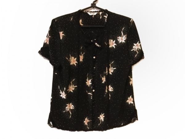 インゲボルグ ノースリーブシャツブラウス サイズM レディース 黒×白×マルチ 花柄