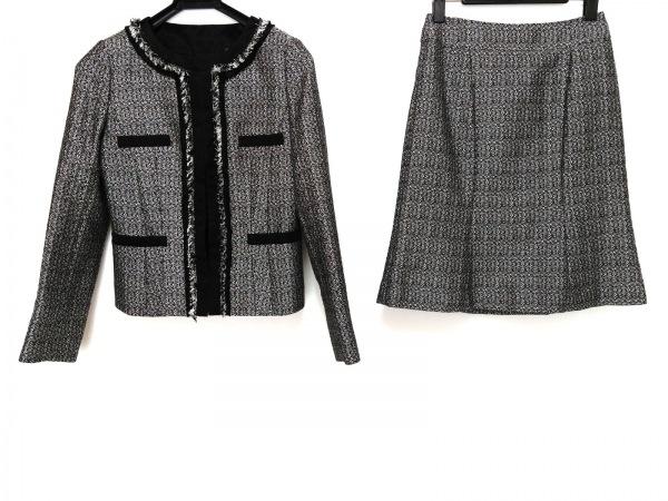 UNTITLED(アンタイトル) スカートスーツ レディース美品  黒×白 ツイード