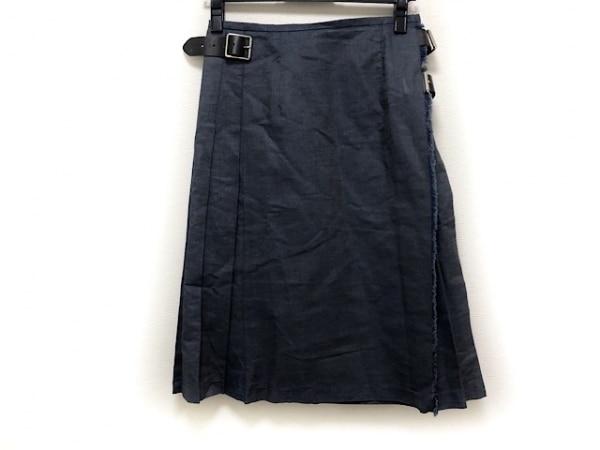 O'NEIL(オニール) 巻きスカート サイズ8 M レディース美品  ダークネイビー