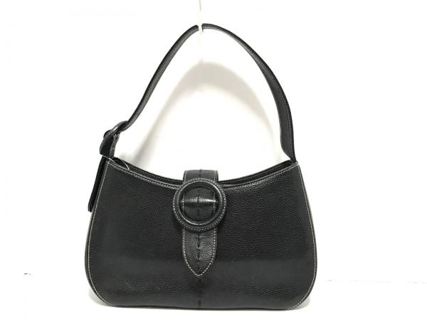 Ungaro(ウンガロ) ハンドバッグ美品  黒 レザー