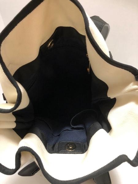 LANVIN en Bleu(ランバンオンブルー) リュックサック 白×黒 キャンバス