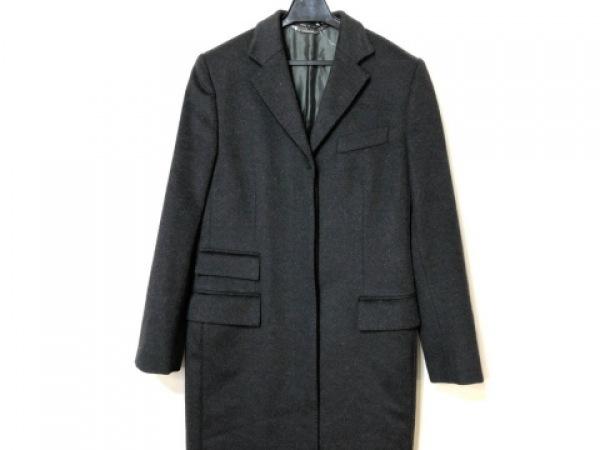 GUCCI(グッチ) コート サイズ38 S レディース 黒 冬物/カシミヤ混