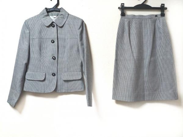 COURREGES(クレージュ) スカートスーツ サイズ5 XS レディース美品  グレー×黒