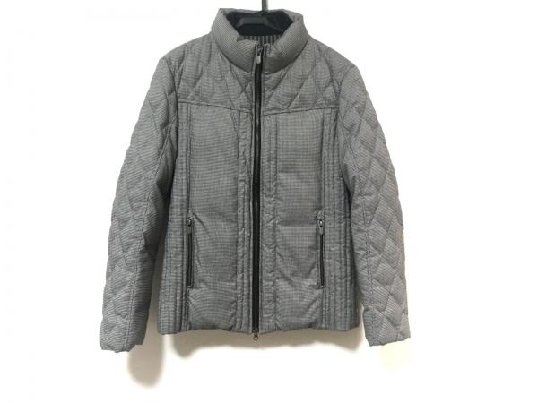 ムッシュニコル ダウンジャケット サイズ48 XL メンズ美品  黒×白 千鳥格子/冬物