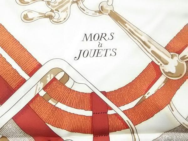 エルメス スカーフ美品  カレ アイボリー×グリーン×マルチ MORS a JOUETS/2019年AW