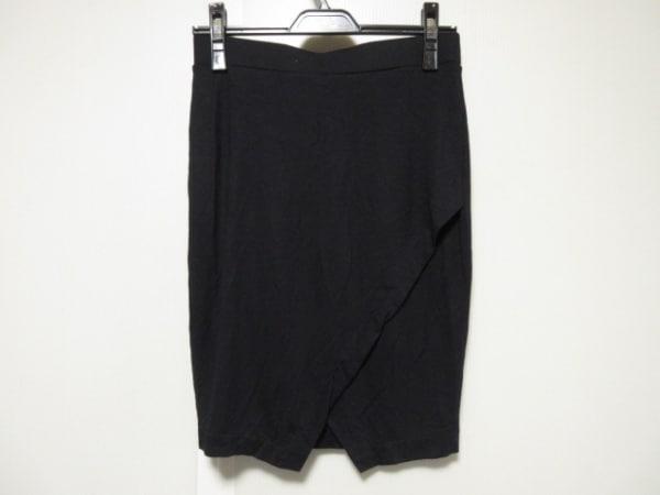 three dots(スリードッツ) ミニスカート サイズXS レディース 黒 ウェストゴム