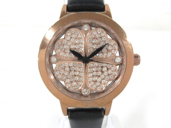FolliFollie(フォリフォリ) 腕時計 WF2R005SS レディース クローバー/ラインストーン